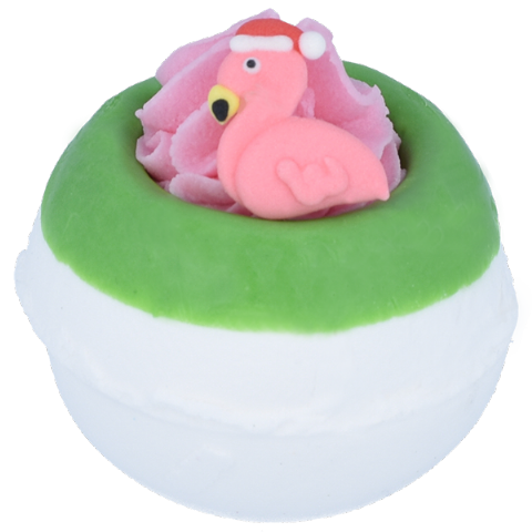 Flamingo Ho Ho Christmas Bath Bomb